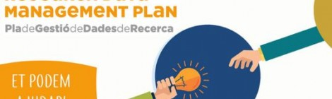 "Infografies per difondre l'eina ""Research Data Management Plan"""